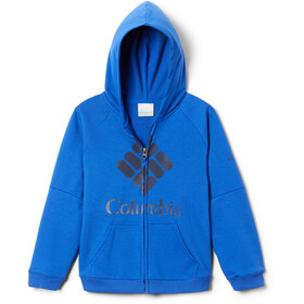 Columbia Branded French Terry Jas met Doorlopende Rits Jongens, azul/collegiate navy logo